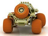 Back view Mini ATV buggy
