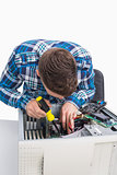 Young it professional repairing cpu