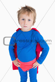 Portrait of boy dressed as superhero