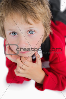 Cute young boy with blue eyes
