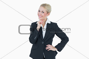 Portrait of confident young business woman