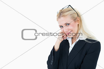 Portrait of attractive young business woman with glasses