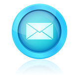 Blue vector e-mail button