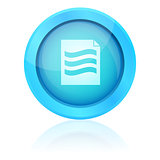Blue vector document button
