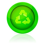 vector icon with recycle symbol