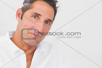 Close up of man looking at camera