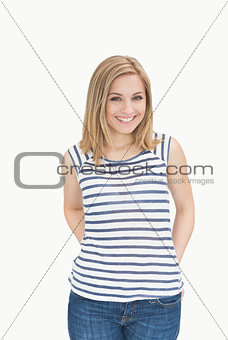 Portrait of happy young casual woman