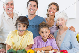 Happy family in the kitchen