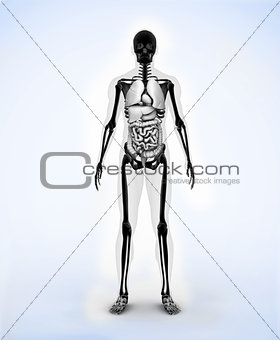 Black digital skeleton
