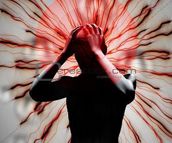 Black digital body with headache