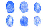 Blue fingerprints