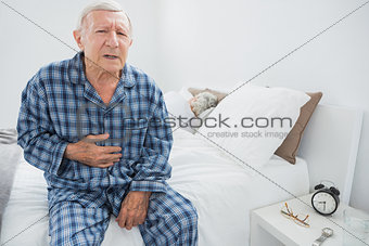 Old man suffering with body pain