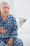 Aged man suffering with body pain