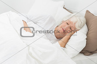 Aged woman sleeping