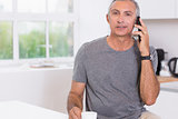 Man calling someone