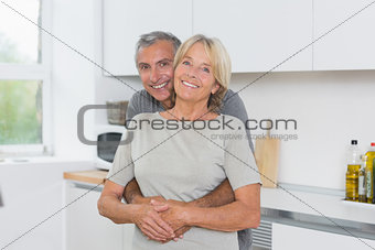 Cute mature couple hugging