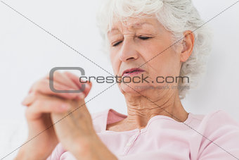 Woman saying her prayers