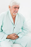Man with pain in stomach