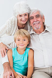 Portrait of grandparents and grandson