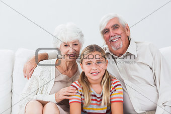 Granddaughter with grandparents