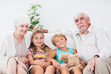 Children with their grandparents