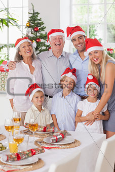 Smiling family at christmas
