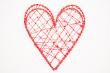 Pink heart shaped box