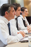 Listening business people