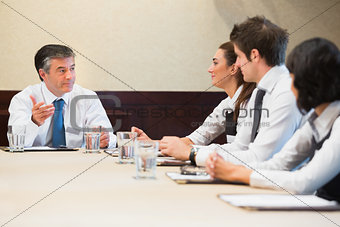 Business people having a meeting