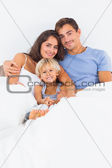 Lovely family embracing
