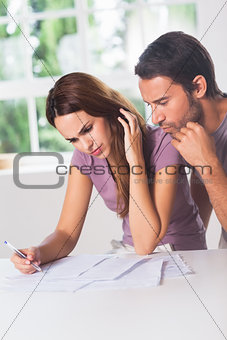 Couple doing their accounting