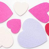 Various confetti hearts