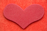Red foam heart