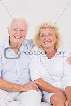Aged couple portrait