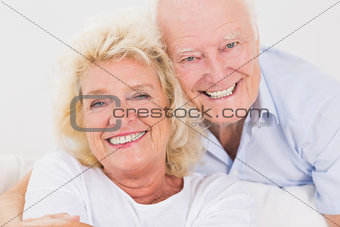 Close up of an old couple portrait