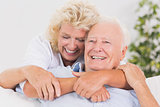 Lovely old couple portrait