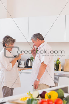 Old lovers yelling in the kitchen