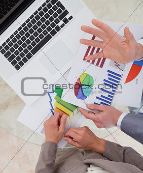 Business process analysts looking at research data