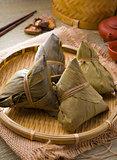 chinese dumplings, zongzi usually taken during festival