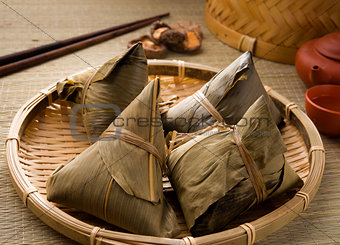 chinese dumplings, zongzi usually taken during festival