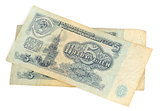 Obsolete Russian money isolated