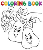 Coloring book fruit theme 2