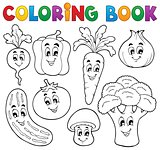 Coloring book vegetable theme 1