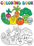 Coloring book vegetable theme 2