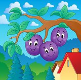 Image with plum theme 2