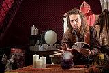 Man with Tarot  Cards