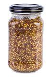 Mustard in a glass jar