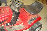 Old Red Riding Lawn Mower