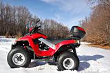 red quad in snow