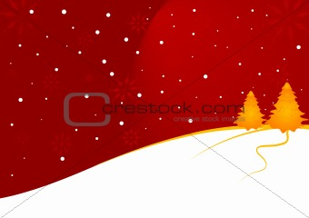 Abstract vector of a christmas landscape